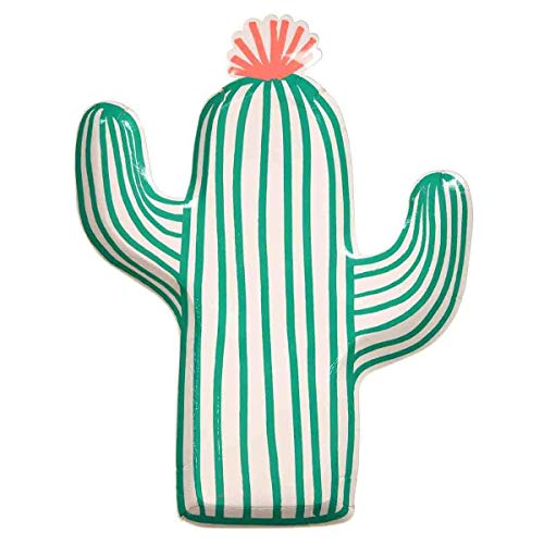Meri Meri 12Pappteller im Kaktusmotiv