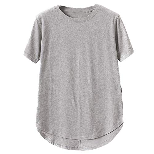 Camiseta de manga corta para hombre gris XXL