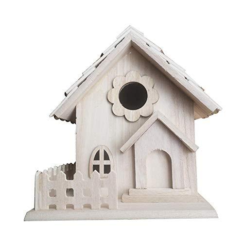 Rubyu vogelhuis, vogelvilla, nestkast, houten tuin decoratie creatief vogelhuisje om zelf te beschilderen, tuindecoratie 191713 cm
