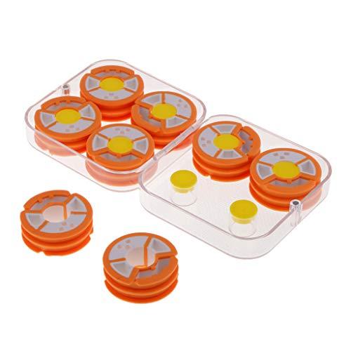 4 Paar Runde Angelschnur Spulenkörper Mit box Für Angelhaken und
