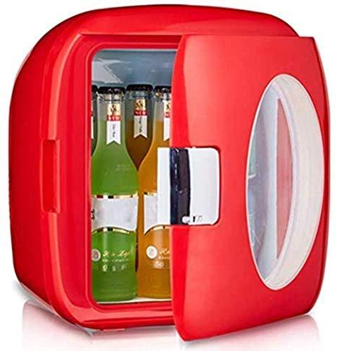 Refrigerador de coche Mini Frigorífico 9L refrigerador de coches pequeños, Dormitorio Mini refrigerador de oficina para estudiantes, Caja de termostato de enfriamiento de calefacción, para hombre ...