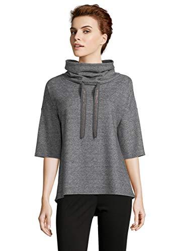 Betty Barclay Damen 4743/9608 Sweatshirt, Mehrfarbig (Black/Grey 9893), (Herstellergröße: 46)