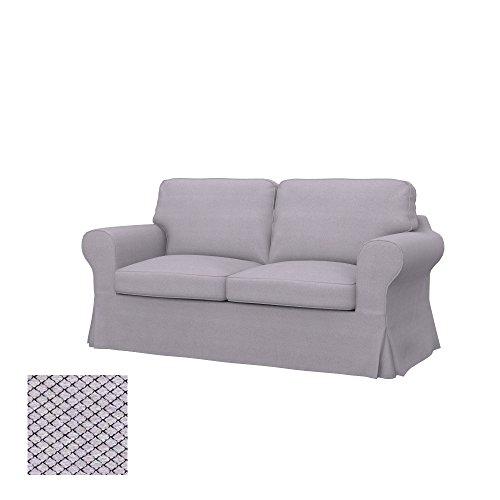 Soferia Funda de Repuesto para IKEA EKTORP sofá Cama de 2 plazas, Tela Nordic Light Grey, Gris