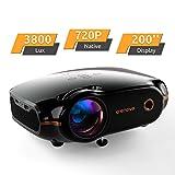 Mini Beamer, Portable Crenova Video Projektor, HD Beamer mit 200'...