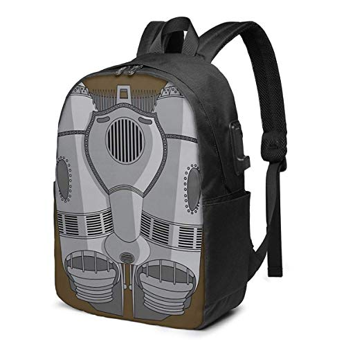 AOOEDM Rocketeer Jetpack Trendy Travel USB Backpack,17 Inch Computer Business Backpacks Student Backpack Casual Hiking Daypack