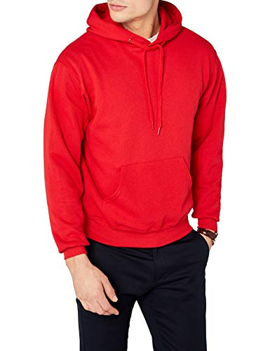 Fruit of the Loom Herren Kapuzenpullover, Rot (Red), Large