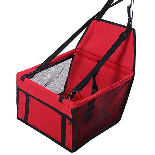Chnrong - Seggiolino per auto per cani, portatile, con guinzaglio di sicurezza regolabile, impermeabile e lavabile, adatto per animali domestici di piccola taglia e media
