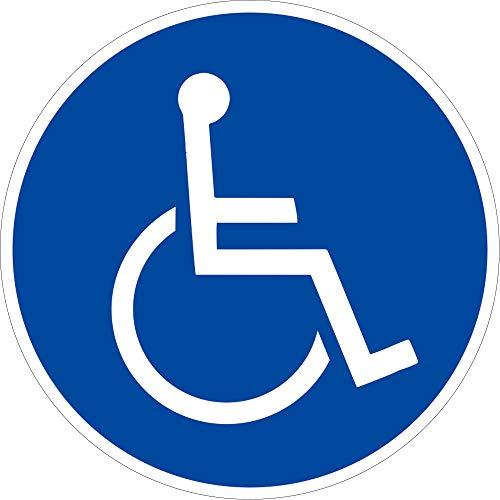 Schild Rollstuhlfahrer Aluminium 31,5cm Ø (Rollstuhl, Gebotsschild) praxisbewährt, wetterfest