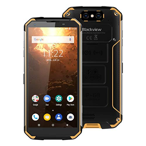 BlackView BV9500 Plus 4GB+64GB 10000mAh 5.7inchAndroid 9.0 MTK6771T 2.5GHz GSM和WCDMA FDD-LTE (Yellow)