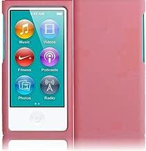 Importer520 Premium Rubberized Hard Rubberized Front Rear Case Cover for The New iPod Nano New Apple iPod Nano 7th Generation 2012 New Model - Light Pink