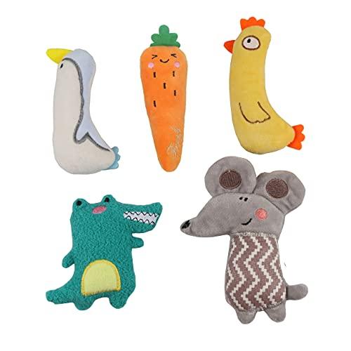 AMO HERMOSO 5 Stück Katzenminze Spielzeug für Katzen, Kick interaktive Spielzeug katzenspielzeug für Haustier Kätzchen Katze