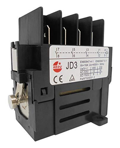 Contactor de motor (relé) KEDU JD3 400V 50Hz con 4 contactos NA,...