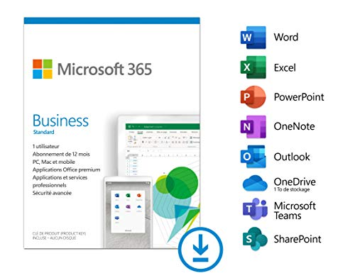 Microsoft 365 Business Standard | Téléchargement | PC ou Mac
