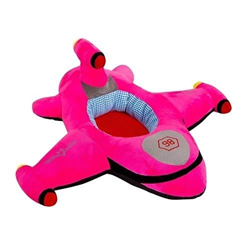 HMG Asiento bebé de la Historieta Asiento Infantil de Aprendizaje Sofá Bebé de Aprendizaje for sillas de Asiento Infantil de Seguridad Felpa de Juguete de Regalo (Azul) (Color : Rose Red)