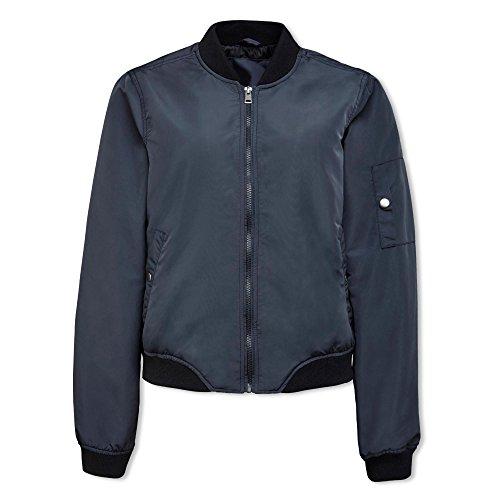 VERO MODA Damen VMDICTE Spring Short Jacket NOOS Jacke, Blau (Ombre Blue), 36 (Herstellergröße: S)