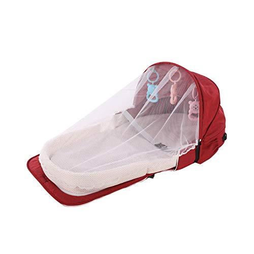 Eileen Ford Baby Moskitonetz  Babybett Reise Sonnenschutz Moskitonetz mit tragbarem Baby Faltbarer Baby-Schlafkorb -PJ057C-