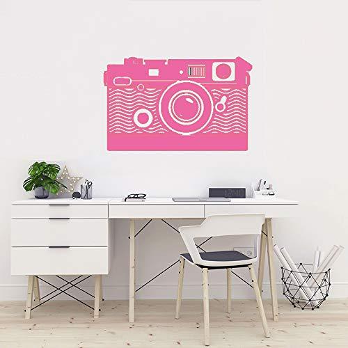 Kamera Wandkunst Aufkleber Vinyl Transfer Fotografie Video Wandaufkleber Fotostudio Wanddekor Kamera Stil Fenster Aufkleber ~ 1 57 * 36 cm