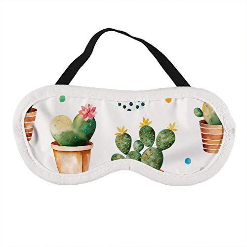 Mascherina per occhi portatile per uomini e donne, con piante in vaso di carne e cactus, la migliore mascherina per dormire per i viaggi, per un sonno, per offrirti il miglior ambiente di sonno.