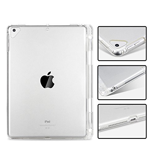 Arlgseln TPU Case for New iPad Mini, Clear Soft Tablet Case TPU Transparent Shockproof Protective Cover+Apple Pencil Holder Case for New iPad Mini 5 2019/iPad Mini 1/2/3/4 7.9-inch