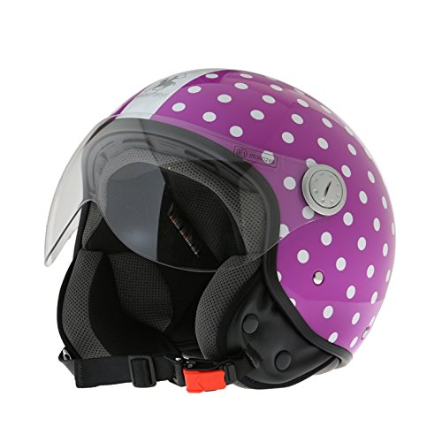 casco scooter xs donna Rodeo Drive RD105N Casco D/Jet con Visiera Elicotterista