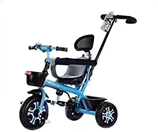 Ntech Removable Parents Push Handle Bar, Children 3 Wheel Pedal Bike, with Foam Tyres,and Toddlers - 25 Kg Capacity Kids R...
