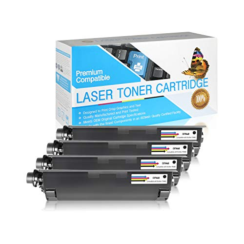 SuppliesOutlet Compatible Toner Cartridge Replacement for Brother TN430 / TN460 / TN530 / TN560 / TN570 / TN6300 / TN7600 (Black,4 Pack)