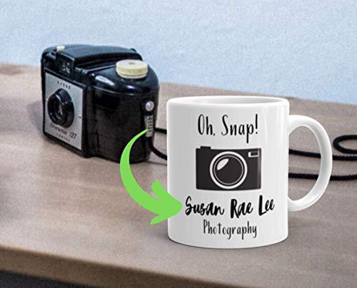 N\A Benutzerdefinierte Fotograf Fotograf Becher Geschenk Geschenk für Fotograf Fotografie Kameratasche Kamera Halskette Hochzeitsfotograf