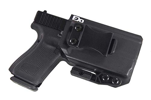Fierce Defender IWB Kydex Holster Compatible with Glock 19 23 32 w/Olight PL-Mini Valkyrie The Paladin Series -Made in USA- GEN 5 Compatible (Black)