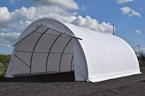 Rundbogenhalle Leichtbauhalle Lagerzelt Zelthalle (grün)