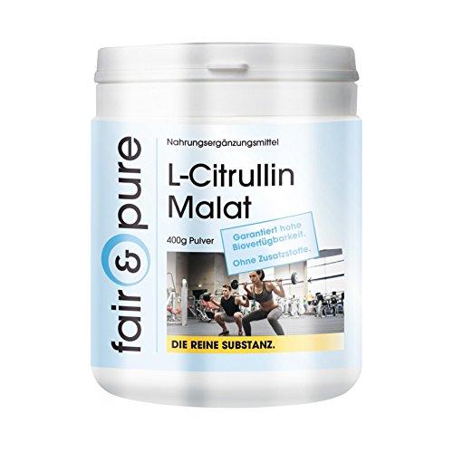 L-Citrullina in polvere - Malato - Sostanza pura - Senza additivi - Senza zuccheri aggiunti - Neutra - 400g