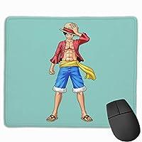 マウスパッド ワンピース ルフィ One Piece Mousepad ミニ 小さい おしゃれ 耐久性が良 滑り止めゴム底 表面 防水 コンピューターオフィス ゲーミング 25 x 30cm