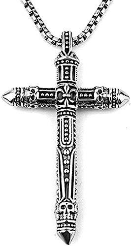 LBBYMX Co.,ltd Facaiba Vintage Halskette 3D Kreuz Anhänger Halskette Mit Edelstahl Kette 316L Für Männer Männlich Anhänger Halskette Mädchen Geschenk Jungen