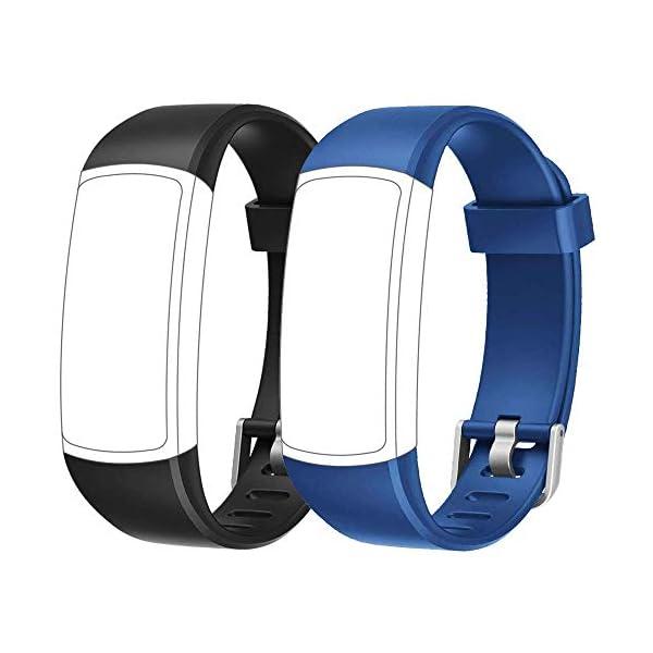 Rayfit Pulseras de Repuesto para Fitness Tracker Correa ID128 Color HR / ID128Color HM / SW336 Inteligente Pulseras… 5