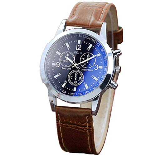 Armbanduhr für Heren/Skxinn Männer Schwarze Mode Blau Analog Quartz Kunstleder Armband,Herrenuhren Ausverkauf