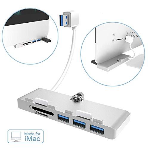 Alcey ultradünner Super 3fach Anschluss USB 3.0 Hub in Kombination mit SD/TF Kartenleser. Exklusiver Entwurf für den iMac Slim Unibody (Upgraded Version).