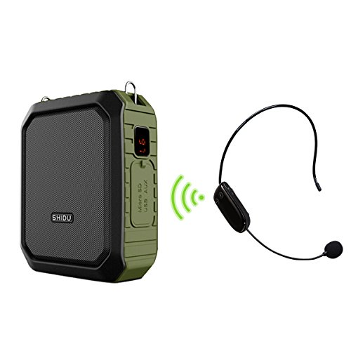 Wireless Voice Amplifier Bluetooth Teacher Microphone 18W Waterproof Portable Voice Amplifier Headset Mic Rechargeable Voice Enhancer Personal Microphone for Classroom Outdoors