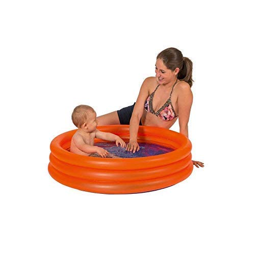 Lively Moments 3 Ring Pool in Neonorange / Babypool / Kinderplanschbecken ca. 100 x 23 cm