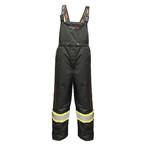 Flame Resistant Insulated Rain Bib Pants, Black, L