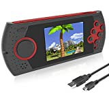 EASEGMER Kids Adults Handheld Games Console ,16 Bit Electronic Retro Game Console with 230 HD Games 3.0-Inch TFT Color Screen Video Games Player Support Heaphone & USB Rechargeable (Red)