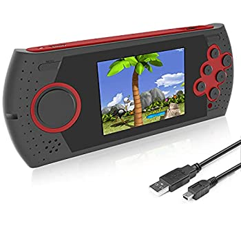 EASEGMER Kids Adults Handheld Games Console ,16 Bit Electronic Retro Game Console with 230 HD Games 3.0-Inch TFT Color Screen Video Games Player Support Heaphone & USB Rechargeable  Red