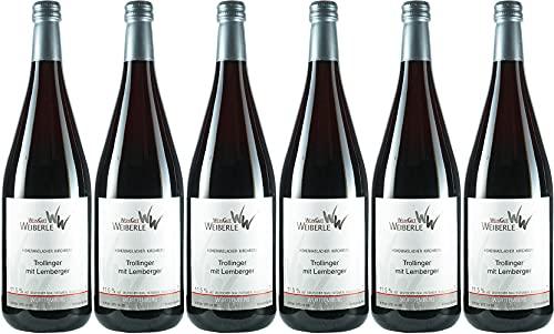 WeinGut Weiberle Trollinger mit Lemberger 2018 Halbtrocken (6 x 1.0 l)