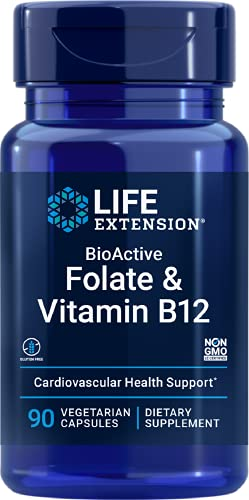 Bioactive Folato e Vitamina B-12 (90 Caps) Life Extension