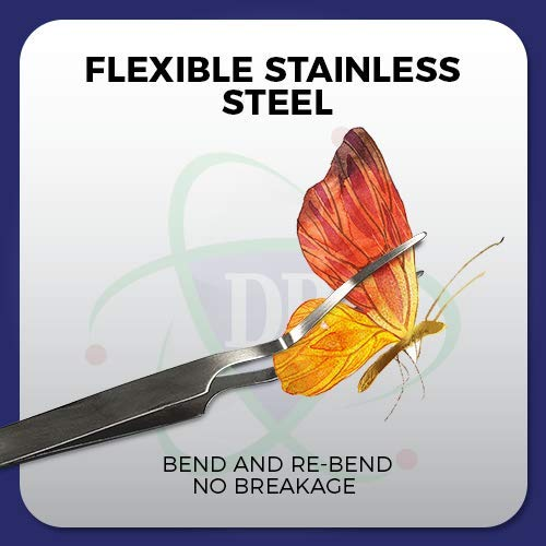 DR Instruments Featherweight Entomology Forceps Wide-Points for a Delicate enetology Work. Flexible Stainless-Steel – Bend & Re-Bend.