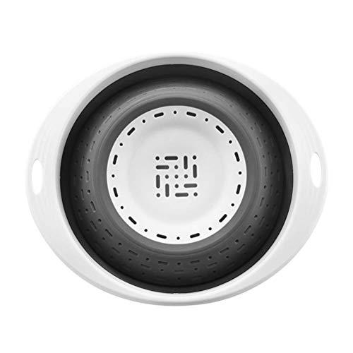 DFBGL Cesta de Drenaje Plegable de Silicona Herramienta de Cocina de Filtro colador de Frutas y Verduras de Silicona retráctil Creativa (Color: Negro)
