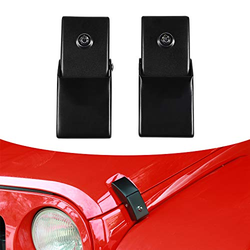TUZILLA Hood Latches for 2018 2019 2020 2021 Jeep Wrangler JL Anti-Theft Hood Lock Catch Latches Accessories 2Door 4Door 1 Pair