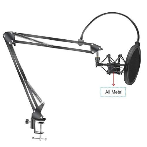 Soporte Brazo De Tijera para Bm800 Pie para Micrófono con Montaje De...