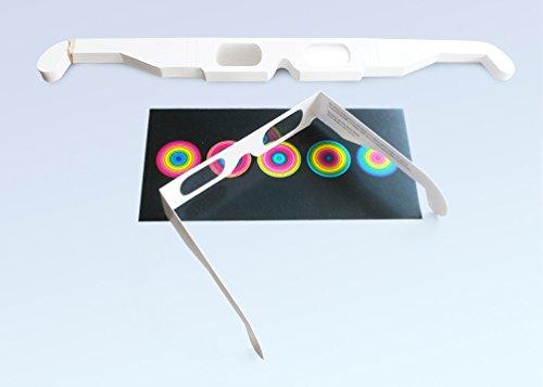 25 Stück ChromaDepth 3D-Brille HD (für größere Betrachtungsabstände)