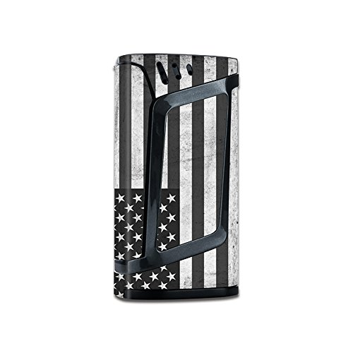 Skin Decal Vinyl Wrap for Smok Alien 220W Vape stickers skins cover/Black White Grunge Flag USA America