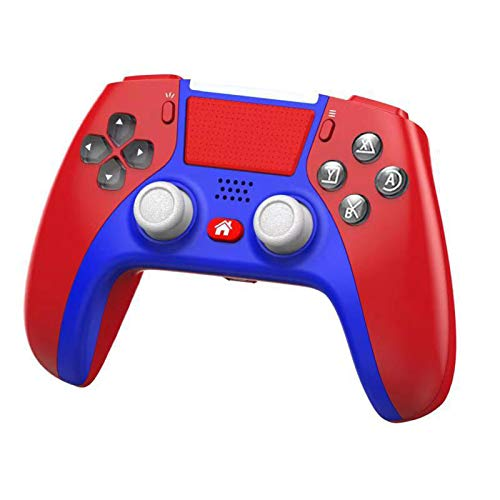 XIKONG PS5 Game Controller, Griff PC Gamepad Control Touch Audio PlayVital Zubehör Halter Gummi Pads Joystick Controller PS4 Gaming Shock Gyroskopes PS3 red