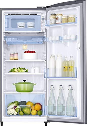 Samsung 192 L 3 Star Inverter Direct-Cool Single Door Refrigerator (RR20T172YS8/HL, Elegant Inox) 5